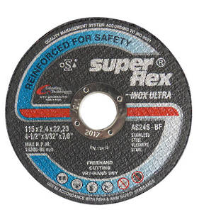 Super Flex 115mm  x 2.4 x 22 Inox Ultra Metal Cut off Disc