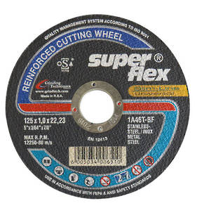 Super Flex 125mm  x 1.0 x 22 Stainless Steel Inox Cut off Wheel