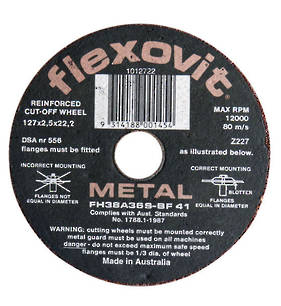 Flexovit 127mm  x 2.5 Reinforced Metal Cut off Disc