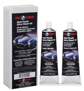 Pro Form Rigid Plastic Epoxy Repair Kit 2 x 150ml