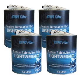 K1W1 Lightweight Premium Automotive Filler 3L Box of 4