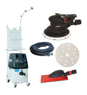 RUPES Powerful Twin Operator Dustless Sander Vacuum Combo with Work Station