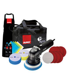 RUPES LHR12E DUETTO Big Foot 'Duetto' Electric Random Orbital Sanding and Polishing Deluxe Kit