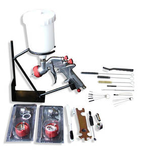 WorkQuip Gravity Feed Spray Gun with 18 Piece Cleaning Kit