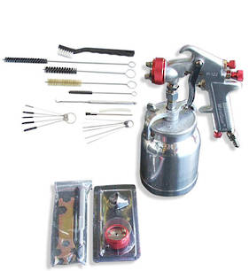 WorkQuip General Purpose Spray Gun with 18 Piece Cleaning Kit