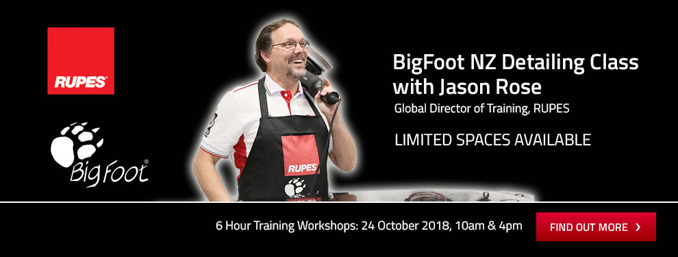 Jason Rose BigFoot Detailing Training Workshop NZ