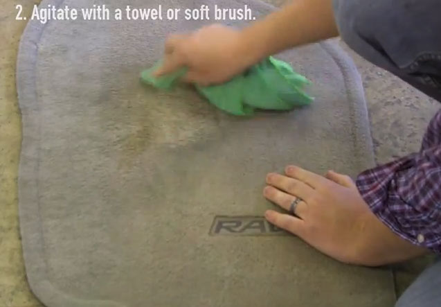 how to get dirt out of carpet in car