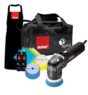 RUPES Big Foot Mini Electric 75mm Random Orbital Polisher Deluxe Kit