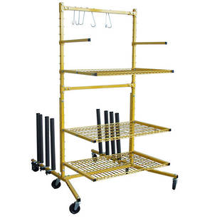3 Shelf Parts Stand with Rack